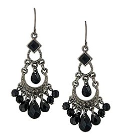 1928® Jewelry Jet Black Chandelier Drop Earrings
