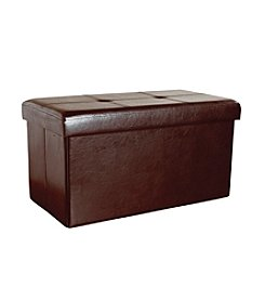 Simplify Faux-Leather Double Folding Ottoman