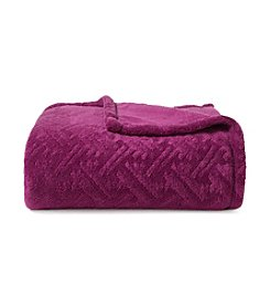LivingQuarters Purple Lattice Micro Cozy Throw