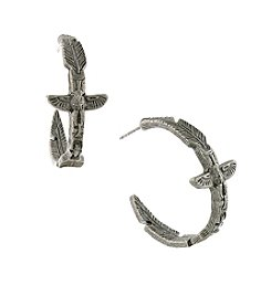 T.R.U™ Totem Pole Feather Hoop Earrings