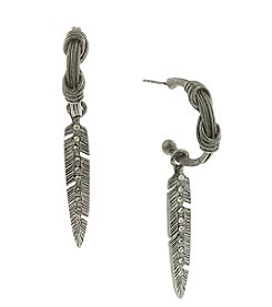 T.R.U™ Crystal Feather Drop Earrings