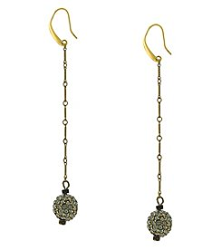 T.R.U™ Swarovski Fireball Black Diamond Drop Earrings