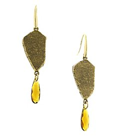 T.R.U™ Lake Arrowhead Nugget of Gold Organic Earrings