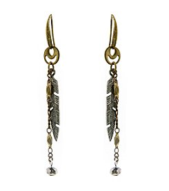 T.R.U™ Delicate Feather Drop Earrings