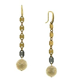 T.R.U™ Link Earrings with Riverstone Beads