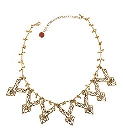 T.R.U™ Red Carnelian Chevron Bib Necklace
