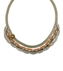 T.R.U™ Forbidden Rose Collar Statement Necklace