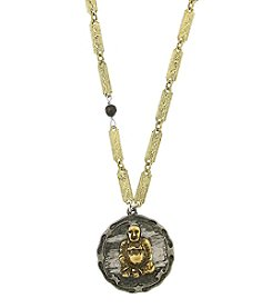 T.R.U™ Sitting Buddha Tiger's Eye Pendant Necklace