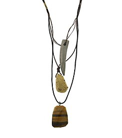 T.R.U™ Rock & Sling Three Tiered Layered Necklace