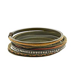 T.R.U™ Native Brown & Butterscotch Medley Bangles Set