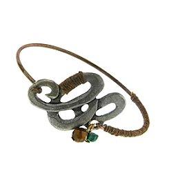 T.R.U™ Wrapped Medallion Bangle Bracelet