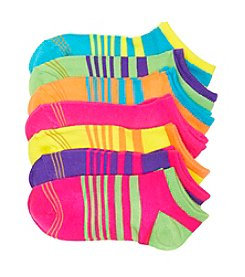 GOLD TOE® Girls' Neon 6-pk. Striped Socks