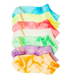 GOLD TOE® Girls' 6-pack Assorted Tie-Dye Liner Socks