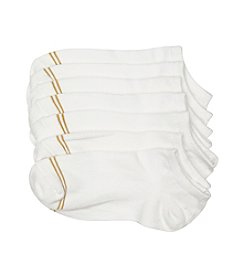 GOLD TOE® Girls' 6-pack Assorted White Liner Socks