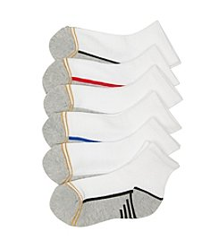 GOLD TOE® Boys' 6-Pack White Quarter Socks