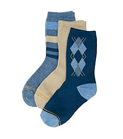 GOLD TOE® Boys' Blue 3-pk. Dress Socks
