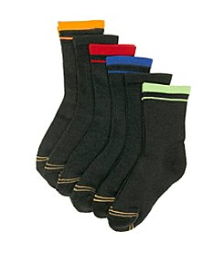 GOLD TOE® Boys' Black 6-pk. Crew Socks