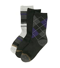 GOLD TOE® Boys' 3-pack Black Dress Socks