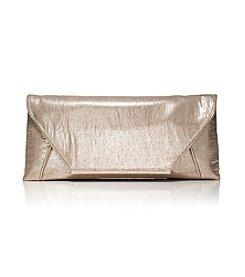 La Regale® Metallic Linen Clutch