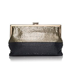La Regale® Mesh Color Block Gold Frame Clutch