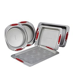 Cake Boss® Deluxe Nonstick Bakeware 5-pc. Bakeware Set with Red Silicone Grips