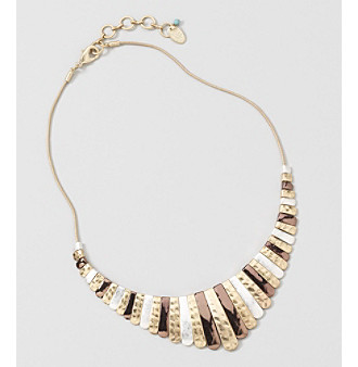 "Nine West Vintage America Collection® 16"" Tri-Tone Drama Necklace plus size,  plus size fashion plus size appare"