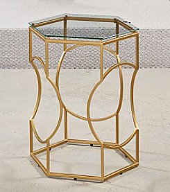 Hammary® Brass Hex Accent Table
