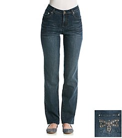 Earl Jean® Dragonfly Back Pocket Straight Leg Jean