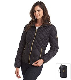 MICHAEL Michael Kors® Short Quilted Packable Jacket With Zip Closure