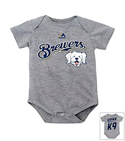 Milwaukee Brewers Baby Grey Hank the Dog Bodysuit