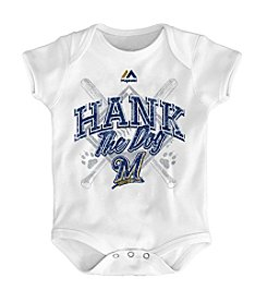 MLB Majestic 12-24M Milwaukee Brewers White Hank Bodysuit
