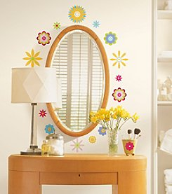 RoomMates Graphic Flowers Peel & Stick Wall Decals