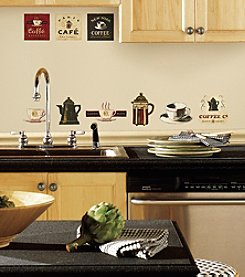 RoomMates Coffee House Peel & Stick Wall Decals
