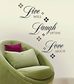 RoomMates Live, Love, Laugh Peel & Stick Wall Decals