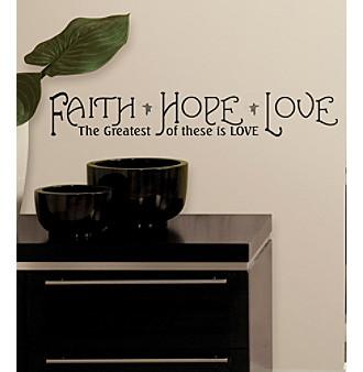 RoomMates Faith, Hope and Love Peel & Stick Quotable Wall De