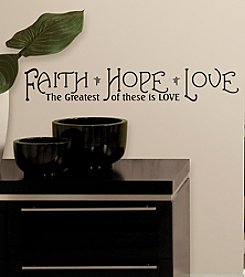 RoomMates Faith, Hope and Love Peel & Stick Quotable Wall Decals