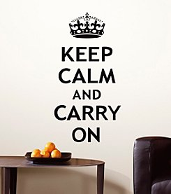 RoomMates Keep Calm and Carry On P&S Wall Decals