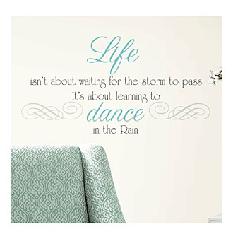 RoomMates Dance in The Rain Quote P & S Wall Decals