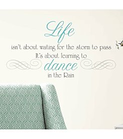 RoomMates Dance in The Rain Quote P&S Wall Decals