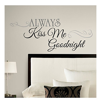 RoomMates Always Kiss Me Goodnight Peel & Stick Wall Decals