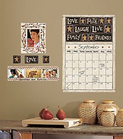 RoomMates Family and Friends Peel & Stick Dry Erase Calendar and Frames