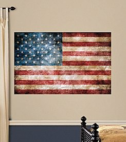 RoomMates Vintage American Flag Peel & Stick Giant Wall Decals
