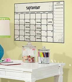 RoomMates Scroll Dry Erase Calendar P&S Wall Decals