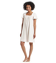 Aria® Knit Short Gown - Pink Bud Geo