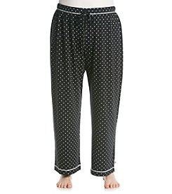 KN Karen Neuburger Plus Size Knit Pants - Black Dot