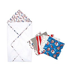 Trend Lab Dr. Seuss Thing 1 and Thing 2 Hooded Towel and Wash Cloth