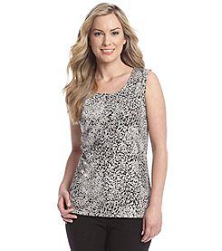 Laura Ashley® Trip Ready Animal Print Tank Top