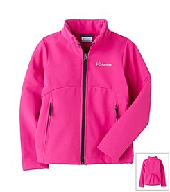 Columbia Girls' 7-16 Groovy Pink Brookview Soft Shell Jacket