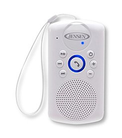 Jensen Water-Resistant Bluetooth Speaker with Hanging Strap and Rechargeable Battery
