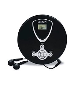 Jensen Slim CD Portable CD Player with Earbuds and LCD Display